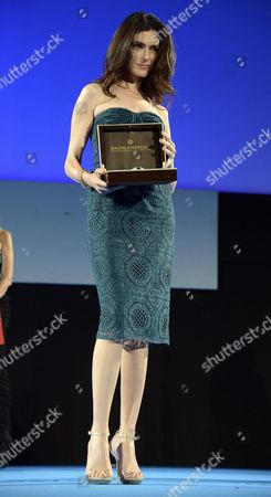 Italian Actress Anna Valle Receives the 'Baume & Mercier-promesse Taormina Award' During a Ceremony at the Teatro Antico As Part of the 61th Annual Taormina Film Festival Taormina Sicily Italy 20 June 2015 the Festival Runs From 13 to 20 June Italy Taormina