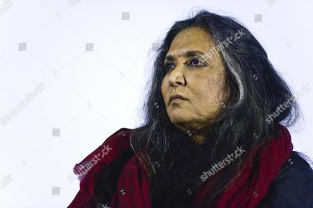 Stock Photo of Indian-canadian Film Director Deepa Mehta Attends the Press Conference For Her Movie 'Midnight's Children' Based on the Novel by Salman Rushdie in Rome Italy 22 March 2013 Italy Roma