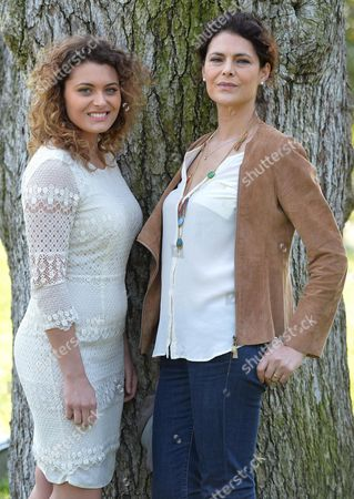Italian Actresses Celeste Casciaro (r) and Laura Licchetta Pose During the Photocall For the Movie 'In Grazia Di Dio' (english Title: Quiet Bliss) in Rome Italy 21 March 2014 Italy Rome
