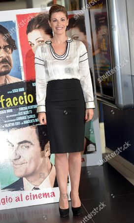 Spanish Actress Vanessa Incontrada Poses During the Photocall For 'Mi Rifaccio Vivo' in Rome Italy 02 May 2013 the Movie Will Be Released in Italian Cinemas on 09 May Italy Rome