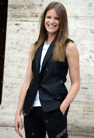 Actress/cast Member Alessia Piovan Poses For Photographs During the Photocall For the Movie 'Cam Girl' in Rome Italy 19 May 2014 the Movie Will Be Released in Italian Theaters on 22 May Italy Rome