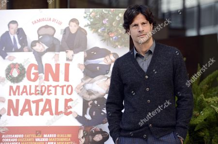 Italian Actor/cast Member Andrea Sartoretti Poses For Photographs During the Photocall For the Movie 'Ogni Maledetto Natale' (any Damn Christmas) in Rome Italy 19 November 2014 the Movie Will Be Released in Italian Theaters on 27 November Italy Rome