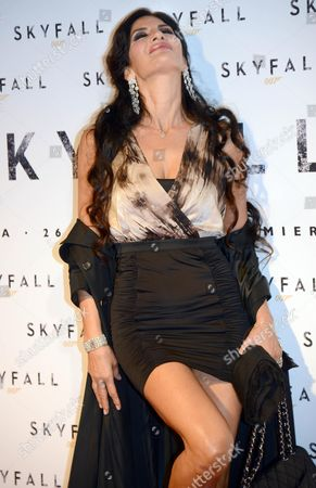 Italian Actress Pamela Prati Arrives For the Premiere of 'Skyfall' at the Cinema the Space Moderno in Rome Italy 26 October 2012 the Movie Will Be Released in Italian Cinemas on 31 October Italy Rome