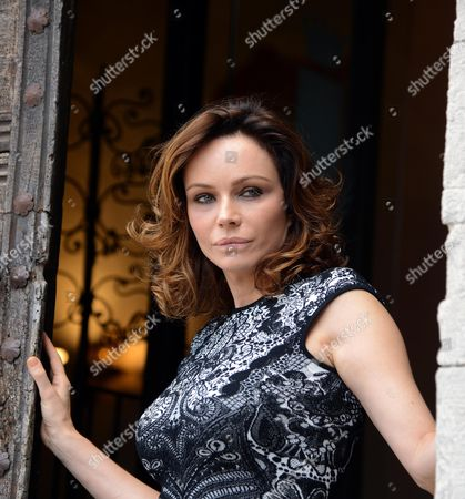 Italian Actress Francesca Neri Poses During a Photocall For 'Una Famiglia Perfetta' (a Perfect Family) in Todi Italy 01 October 2012 the Movie Will Be Released in Italian Cinemas on 03 January 2013 Italy Todi