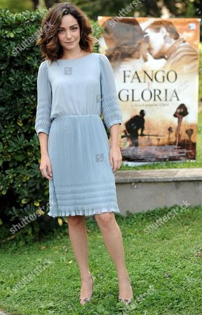 Italian Actor/cast Member Valentina Corti Poses For Photographs During the Photocall For the Movie 'Fango E Gloria' (mud and Glory) in Rome Italy 13 October 2014 Italy Rome