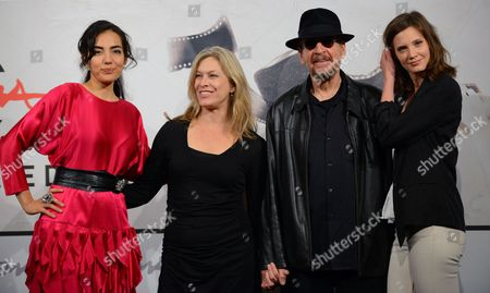 Stock Image of From (l-r): Actresses Tina Rodriguez Mary Farley Us Director Larry Clark and Actress Drake Burnette Pose During the Photocall For the Movie 'Marfa Girl' at the Seventh Annual Rome Film Festival in Rome Italy 12 November 2012 the Movie is Presented in Competition at the Festival That Runs From 09 to 17 November Italy Rome