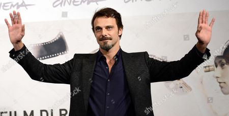 Italian Actor Alessandro Preziosi Poses During the Photocall For the Movie 'Il Volto Di Un'altra' (the Face of Another) by Italian Director Pappi Corsicato at the 7th Annual Rome Film Festival in Rome Italy 12 November 2012 the Movie is Presented in Competition at the Festival That Runs From 09 to 17 November Italy Rome