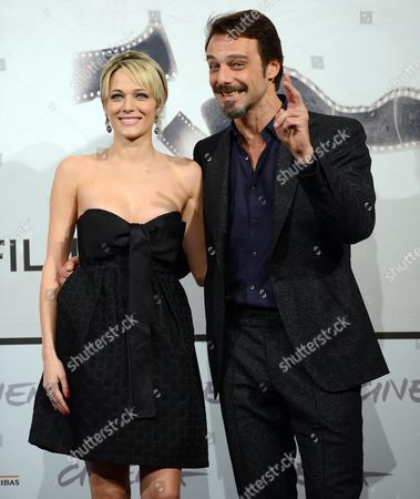 Italian Actors Laura Chiatti (l) and Alessandro Preziosi Pose During the Photocall For the Movie 'Il Volto Di Un'altra' (the Face of Another) by Italian Director Pappi Corsicato at the Seventh Annual Rome Film Festival in Rome Italy 12 November 2012 the Movie is Presented in Competition at the Festival That Runs From 09 to 17 November Italy Rome