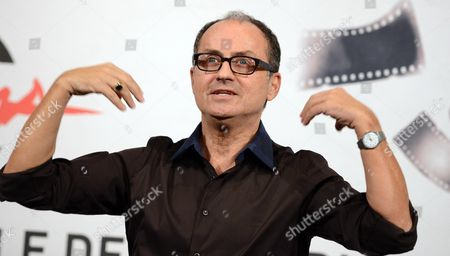Italian Director Pappi Corsicato Poses During the Photocall For the Movie 'Il Volto Di Un'altra' (the Face of Another) at the Seventh Annual Rome Film Festival in Rome Italy 12 November 2012 the Movie is Presented in Competition at the Festival That Runs From 09 to 17 November Italy Rome