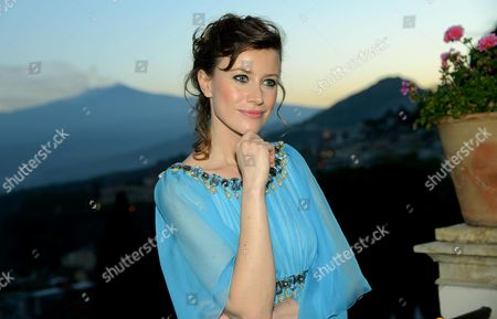 Italian Actress Giorgia Wurth Poses For Photographs During a Party at the Taormina Film Festival in Taormina Sicily Island Italy 25 June 2012 the 58th Edition of the Festival Runs From 22 Until 28 June Italy Taormina
