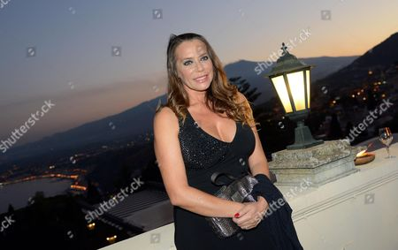 Italian Actress Barbara De Rossi is Pictured During a Party During the Taormina Film Festival at the Teatro Antico in Taormina Sicily Island Italy 26 June 2012 the 58th Edition of the Festival Runs From 22 Until 28 June Italy Taormina