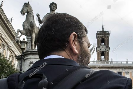 Former Rome's Mayor Ignazio Marino the Day After the End of His Administration in Rome Italy 31 October 2015 Rome Mayor Ignazio Marino's Two and a Half Year Term at the Helm of the Italian Capital Ended Prematurely on 30 October 2015 when 26 Councillors Quit Bringing His Executive Crashing Down As He Vainly Tried to Hang on After a U-turn on Resigning Over an Expenses Scandal Italy Rome