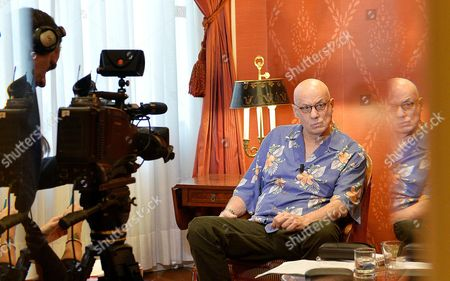 Us Writer James Ellroy Looks on During an Interview About His Last Novel 'Perfidia' in the Sitea Hotel in Turin Italy 12 March 2015 Italy Turin