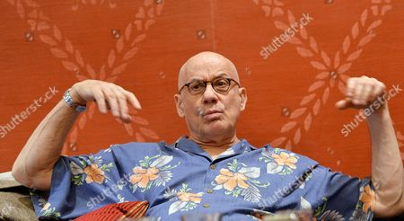 Us Writer James Ellroy Talks During an Interview About His Last Novel 'Perfidia' in the Sitea Hotel in Turin Italy 12 March 2015 Italy Turin