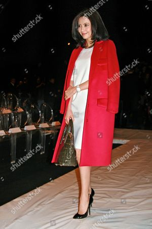 Chinese Actress Gao Yuanyuan Attends the Max Mara Show During the Milan Fashion Week in Milan Italy 23 February 2012 the Fall/winter 2012 Collections Are Presented at the Milano Moda Donna From 22 to 28 February Italy Milano