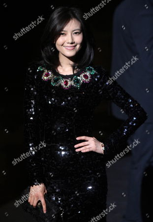 Chinese Actress Gao Yuanyuan Attends the Dolce & Gabbana Fashion Show at the Milan Fashion Week in Milan Italy 26 February 2012 the Fall/winter 2012 Collections Are Presented at the Milano Moda Donna From 22 to 28 February Italy Milano
