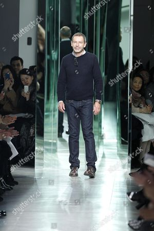 German-born Designer Tomas Maier Takes to the Catwalk After the Presentation of Fashion House Bottega Veneta During the Milan Fashion Week Fall/winter 2013-2014 in Milan Italy 23 February 2013 the Event Runs From 20 to 26 February 2013 Italy Milan