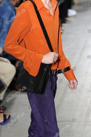 A Model Presents a Creation From the Spring/summer 2015 Menswear Collection of Italian Designer Ennio Capasa For His Label Costume National Homme During the Milan Men's Fashion Week in Milan Italy 21 June 2014 the Milano Moda Uomo Runs From 21 to 24 June Italy Milan