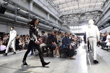Models Present Creations From the Spring/summer 2016 Menswear Collection of Italian Designer Ennio Capasa For His Label Costume National Homme During the Milan Men's Fashion Week in Milan Italy 20 June 2015 the Milano Moda Uomo Runs From 19 to 23 June Italy Milan