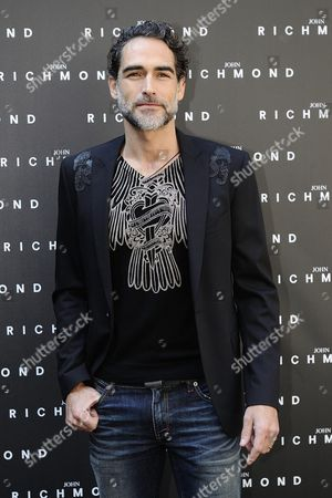 Spanish Actor Sergio Muniz Poses During the Presentation of the Fall/winter 2015 Collection by British Designer John Richmond During the Milan Fashion Week in Milan Italy 01 March 2015 the Milano Moda Donna Will Run From 25 February to 02 March Italy Milan