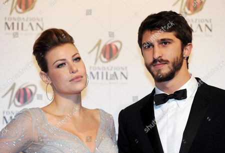 Stock Picture of Daughter of Ac Milan's President Silvio Berlusconi Barbara Berlusconi with Her Boyfriend Lorenzo Guerrieri at the Gala For the 10th Anniversary of the Milan Foundation in Milan Italy 20 November 2013 Italy Milan