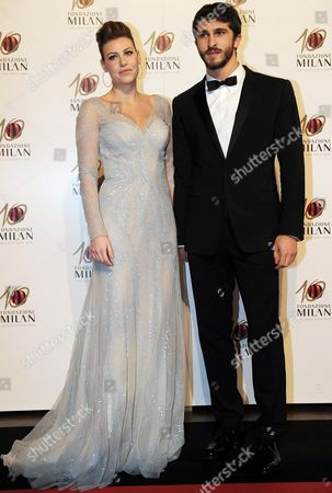 Daughter of Ac Milan's President Silvio Berlusconi Barbara Berlusconi with Her Boyfriend Lorenzo Guerrieri at the Gala For the 10th Anniversary of the Milan Foundation in Milan Italy 20 November 2013 Italy Milan