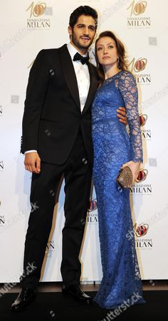 Stock Picture of Daughter of Ac Milan's President Silvio Berlusconi Eleonora Berlusconi with Her Boyfriend Guy Binns at the Gala For the 10th Anniversary of the Milan Foundation in Milan Italy 20 November 2013 Italy Milan