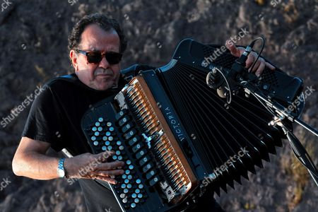 A Picture Made Available on 21 July 2014 Shows French Accordionist Richard Galliano Performing on the Mount Vesuvius During the Pomigliano Jazz Festival in Naples Italy 21 July 2014 the 19th Edition of the Event Ran Until 20 July Italy Naples