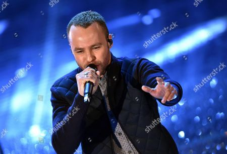 British Singer Marlon Roudette Performs on Stage During the Sanremo Italian Song Festival at the Ariston Theater in Sanremo Italy 11 February 2015 the 65th Festival Della Canzone Italiana Runs From 10 to 14 February Italy Sanremo