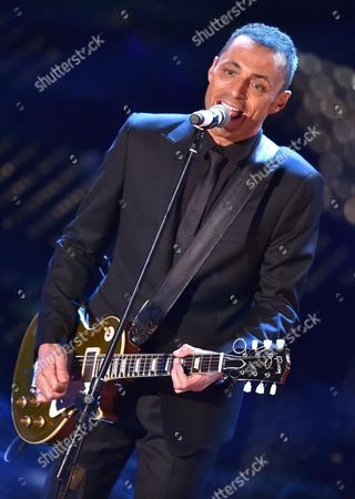 Italian Singer Alex Britti Performs on Stage During the Sanremo Italian Song Festival at the Ariston Theater in Sanremo Italy 13 February 2015 the 65th Festival Della Canzone Italiana Runs From 10 to 14 February Italy San Remo