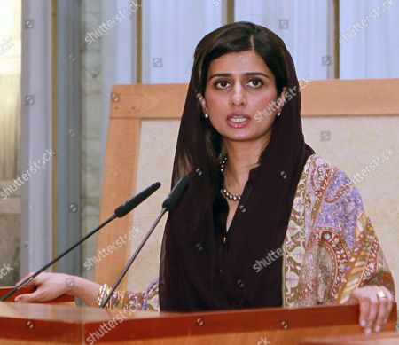 Pakistani Foreign Minister Hina Rabbani Khar Speaks During a News Conference with Italian Foreign Minister Giulio Terzi (not Seen) in Rome Italy 01 February 2013 the Pakistani Foreign Minister is on an Official Visit to Italy Italy Rome