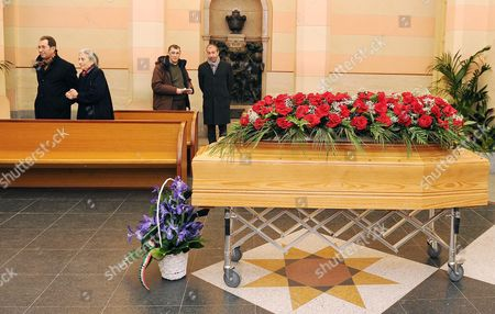 Piera Levi Montalcini the Niece of Rita Levi Montalcini During the Arrival of the Coffin at the Monumental Cementery of Turin Italy 01 January 2013 Rita Levi Montalcini Joint Winner of the Nobel Prize For Medicine and an Italian Senator For Life Died on Sunday at the Age of 103 Italy Turin