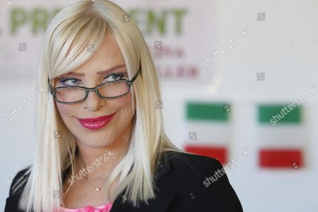 The Porn Actress and Politician Ilona Staller Also Known As 'Cicciolina' is Seen During the Presentation of the New Italian Political Party 'Dna (democracy Nature Love)' in Rome Italy 08 November 2012 Staller who Has Been a Member of the Italian Parliament Founded the Party with Her Partner Luca Di Carlo Italy Rome
