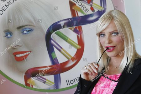 Porn Actress and Politician Ilona Staller Also Known As 'Cicciolina' is Seen During the Presentation of the New Italian Political Party 'Dna (democracy Nature Love)' in Rome Italy 08 November 2012 Staller who Has Been a Member of the Italian Parliament Founded the Party with Luca Di Carlo Her Partner Italy Rome