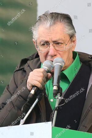 Italian 'Lega Nord' Party Leader Umberto Bossi Speaks to Supporters During the Yearly Meeting of the Party in Pontida Bergamo District Italy 07 April 2013 the Lega Nord Stands United Said Bossi During His Speech to Participants of the Meeting in Pontida on 07 April Italy Pontida