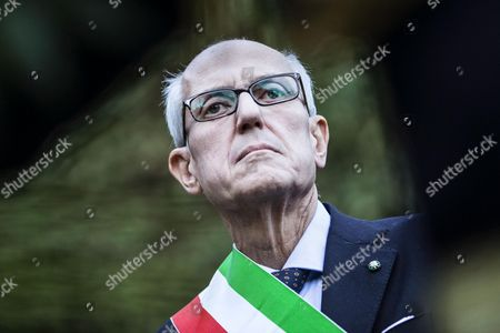 Rome Commissioner Francesco Paolo Tronca (l) Attends a Ceremony at the Ardeatine Caves Site (fosse Ardeatine) in Rome Italy 02 November 2015 Former Milan Prefect Francesco Paolo Tronca Will Get Down to Work in Earnest on 02 November 2015 After Being Sworn in As Rome Commissioner on the Previous Day to Replace Ex-mayor Ignazio Marino Italy Rome