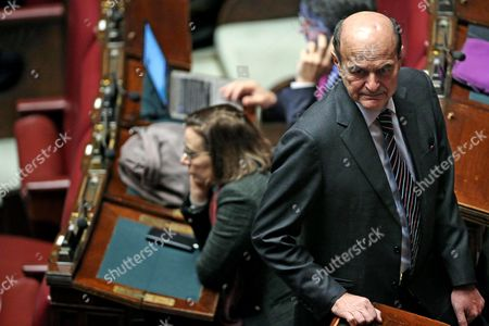 Former Pd (democratic Party) Leader Pier Luigi Bersani in the Italian Parliament During the First Round of Voting to Choose a New President at the Deputies' Chamber in Rome Italy 29 January 2015 More Than 1 000 National and Regional Lawmakers From Both Houses of Parliament and Regional Representatives Are Set to Start Casting Their Ballots in the First Rounding of Voting to Elect a New President of Italy at 3pm Local Time Sergio Mattarella a Constitutional Court Judge who Previously Served As a Christian Democrat Minister is the Lead Candidate However Conservatives Led by Former Premier Silvio Berlusconi Oppose His Candidature Rendering the Election Outcome Uncertain Italy Rome