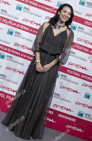 Chinese Actress Zhang Ziyi During the Photocall For Their Movie 'Love For Life' in Rome Italy 02 November 2011 the Movie by Chinese Director Gu Changwei is Presented in the Official Competition Italy Rome
