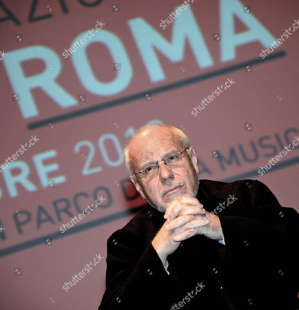 The Artistic Director of the Rome Film Festival Marco Muller Looks on During a Press Conference on the Eighth Rome Film Festival 14 October 2013 in Rome Italy the Festival Will Take Place From 08 to 17 November Italy Rome