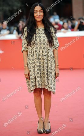 Moroccan Actress Zahra Hindi Arrives For the Premiere of 'The Narrow Frame of Midnight' (itar El-layl) at the 9th Annual Rome Film Festival in Rome Italy 17 October 2014 the Festival Runs From 16 to 25 October Italy Rome
