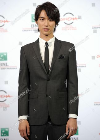 Japanese Actor Sota Fukushi Poses During the Photocall For the Movie 'As the Gods Will' (kamisana No Iutoori) at the 9th Annual Rome Film Festival in Rome Italy 18 October 2014 the Festival Runs From 16 to 25 October Italy Rome