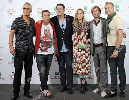 Members of the Spandau Ballet: (l-r) Martin Kemp John Keeble Tony Hadley British Director and Producer George Hencken Steve Norman and Gary Kemp Pose During the Photocall For the Movie 'Soul Boys of the Western World/spandau Ballet: Il Film' at the 9th Annual Rome Film Festival in Rome Italy 20 October 2014 the Festival Runs From 16 to 25 October Italy Rome