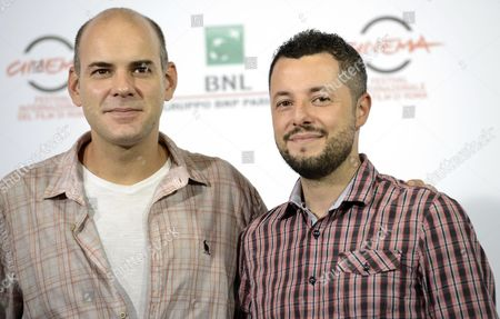 Brazilian Director Marco Dutra (r) and Brazilian Actor Marat Descartes (l) Pose During the Photocall For the Movie 'Quando Eu Era Vivo (when i was Alive)' at the 9th Annual Rome Film Festival in Rome Italy 17 October 2014 the Festival Runs From 16 to 25 October Italy Rome