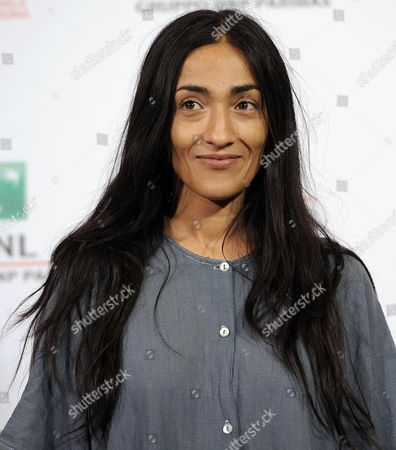 Stock Photo of Moroccan Actress Zahra Hindi Poses During the Photocall For 'The Narrow Frame of Midnight' (itar El-layl) at the 9th Annual Rome Film Festival in Rome Italy 17 October 2014 the Festival Runs From 16 to 25 October Italy Rome