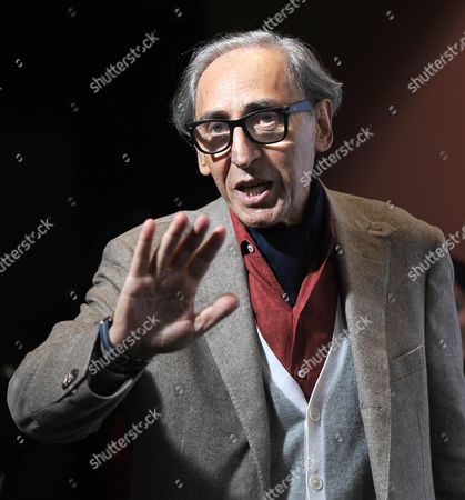 Italian Musician Franco Battiato Poses During the Photocall For the Movie 'Due Volte Delta' at the 9th Annual Rome Film Festival in Rome Italy 23 October 2014 the Festival Runs From 16 to 25 October Italy Rome