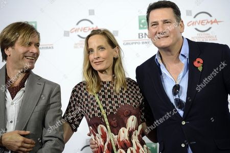 (l-r) Co-founder Guitarist Saxophonist Percussionist and Co-song-writer Steve Norman British Director George Hencken and British Pop Singer and Frontman For the 1980s Band 'Spandau Ballet' Tony Hadley Pose During the Photocall For the Movie 'Soul Boys of the Western World/spandau Ballet: Il Film' at the 9th Annual Rome Film Festival in Rome Italy 20 October 2014 the Festival Runs From 16 to 25 October Italy Rome