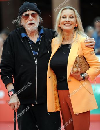 Cuban-us Actor Tomas Milian (l) and German-born Actress Barbara Bouchet Pose on the Red Carpet at the 9th Annual Rome Film Festival in Rome Italy 17 October 2014 Milian Received the Marc Aurelio Acting Award at the Festival Running From 16 to 25 October Italy Rome