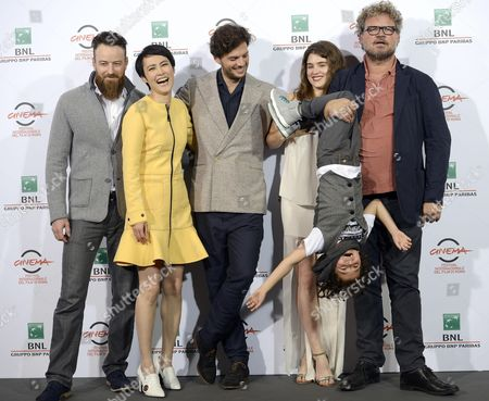 (l-r) Actors/cast Members Daniel Ball Rinko Kikuchi Director Leonardo Guerra Seragnoli Lucy Griffiths Ken Brady and Yorick Van Wageningen Pose During the Photocall For the Movie 'Last Summer' at the 9th Annual Rome Film Festival in Rome Italy 18 October 2014 the Festival Runs From 16 to 25 October Italy Rome