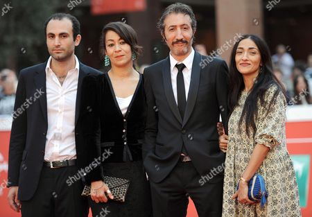(l-r) British Actor Khalid Abdalla British Director Tala Hadid French Actor Hocine Choutri and Moroccan Actress Zahra Hindi Arrive For the Premiere of 'The Narrow Frame of Midnight' (itar El-layl) at the 9th Annual Rome Film Festival in Rome Italy 17 October 2014 the Festival Runs From 16 to 25 October Italy Rome
