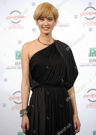Japanese Actress Hirona Yamazaki Poses During the Photocall For the Movie 'As the Gods Will' (kamisana No Iutoori) at the 9th Annual Rome Film Festival in Rome Italy 18 October 2014 the Festival Runs From 16 to 25 October Italy Rome